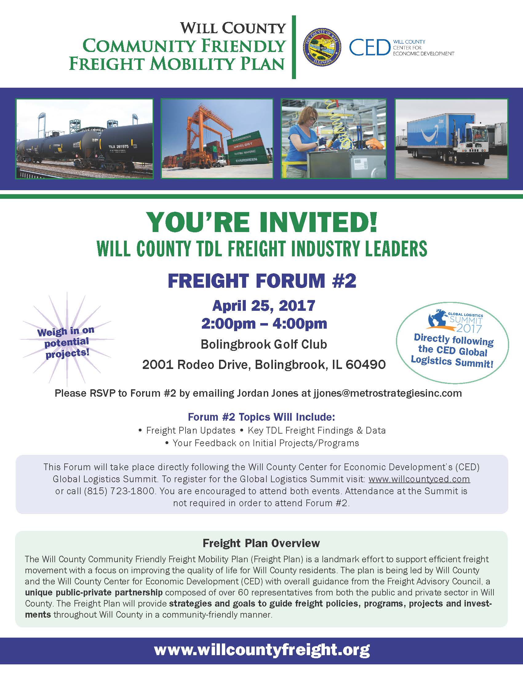Will County Freight Industry Forum flyer